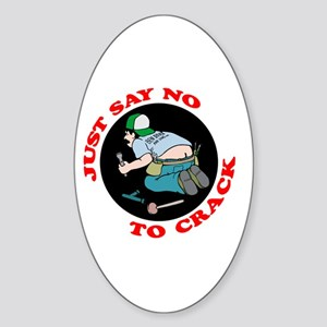 """Just Say No"" Oval Sticker"