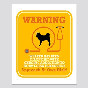 Norwegian Elkhound Small Poster