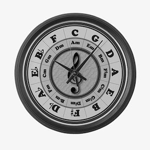 Circle of Fifths Large Wall Clock