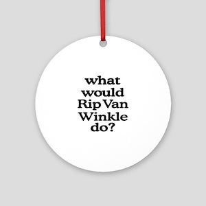 Rip Van Winkle Ornament (Round)