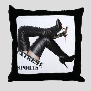 Extreme Sports - Boot Climbing Throw Pillow