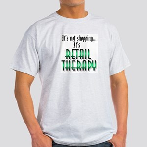 Retail Therapy Ash Grey T-Shirt