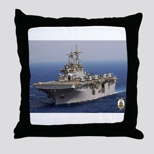 USS Wasp LHD 1 Throw Pillow