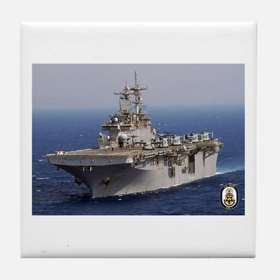 USS Wasp LHD 1 Tile Coaster