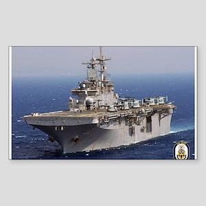 USS Wasp LHD 1 Rectangle Sticker