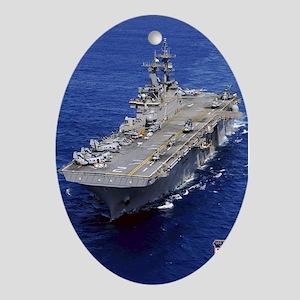 USS Essex LHD-2 Oval Ornament