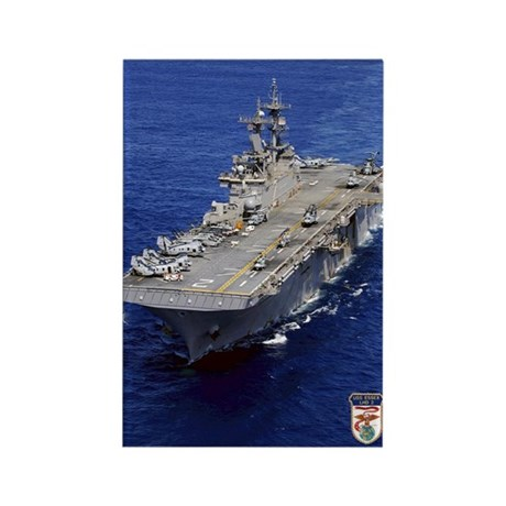 USS Essex LHD-2 Rectangle Magnet (100 pack)