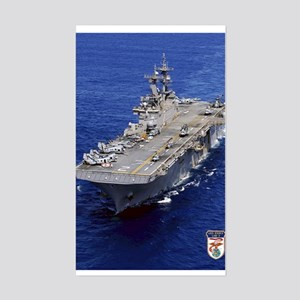 USS Essex LHD-2 Rectangle Sticker