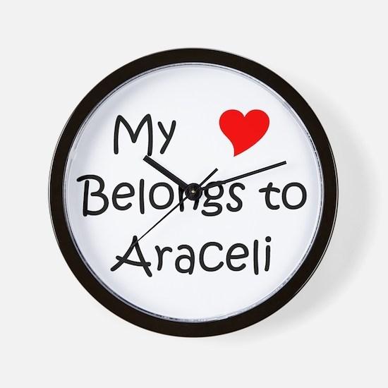 Cute Araceli Wall Clock