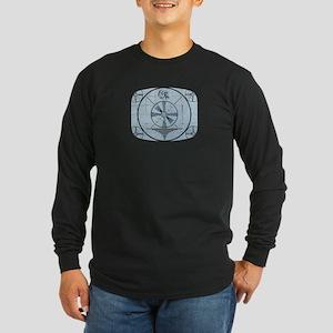 Test Pattern Long Sleeve Dark T-Shirt