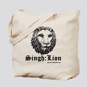 Singh is a Lion Tote Bag