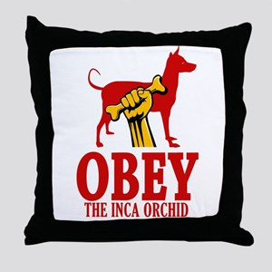Peruvian Inca Orchid Throw Pillow