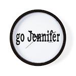go Jennifer Wall Clock