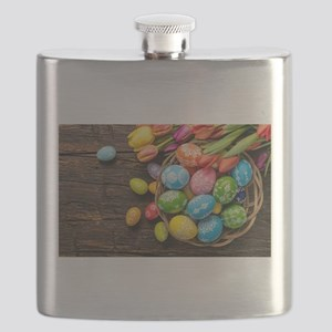 easter-eggs-colorful-tulips-wood-basket Flask