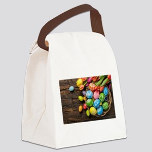 easter-eggs-colorful-tulips-wood-basket Canvas Lun