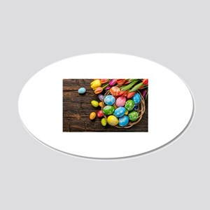 easter-eggs-colorful-tulips-wood-basket Wall Decal