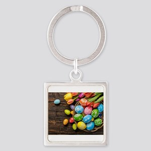 easter-eggs-colorful-tulips-wood-basket Keychains