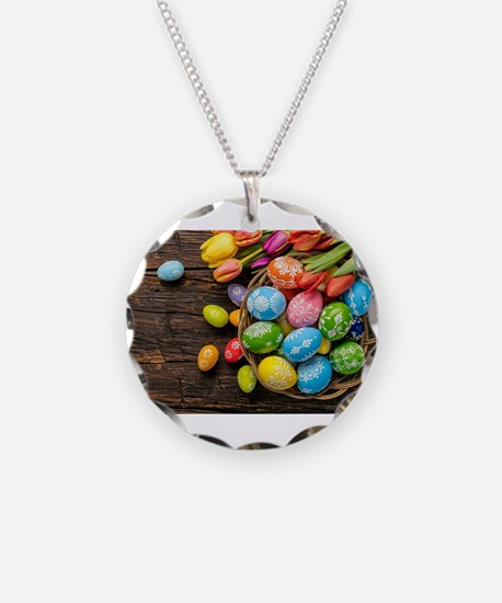 easter-eggs-colorful-tulips-wood-basket Necklace