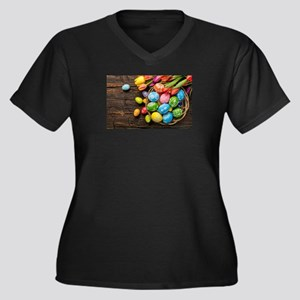easter-eggs-colorful-tulips-wood-basket Plus Size