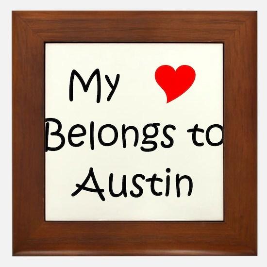 Unique Austin Framed Tile