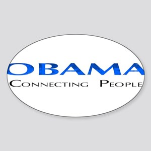 Obama: Connectiong People Oval Sticker