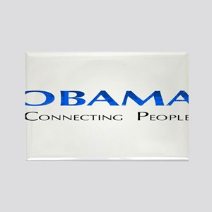 Obama: Connectiong People Rectangle Magnet
