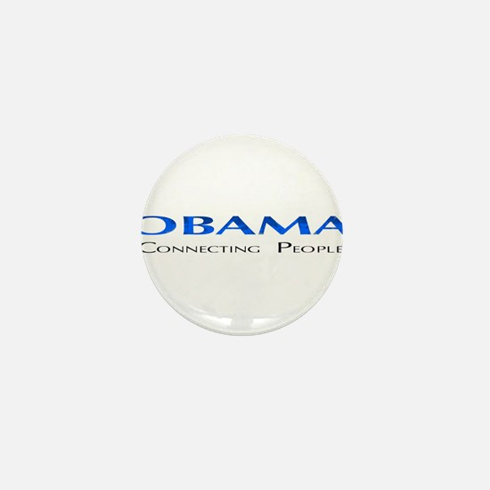 Obama: Connectiong People Mini Button
