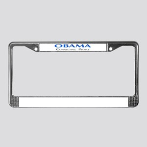 Obama: Connectiong People License Plate Frame