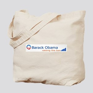 Barack Obama: Raising the bar Tote Bag