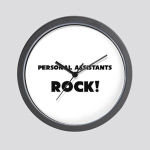 Personal Assistants ROCK Wall Clock