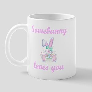Somebunny Loves You (girl) Mug