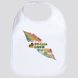 Rainbow Obama Biden Grunge Bib