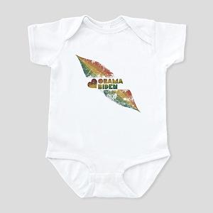 Rainbow Obama Biden Grunge Infant Bodysuit