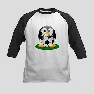 Soccer penguin Kids Baseball Jersey