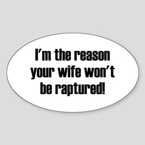 not your wife Oval Sticker