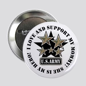 Kids Army Love Support Mommy Button