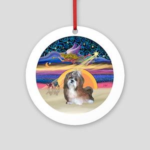 Xmas Star - Shih Tzu (#8) Ornament (Round)