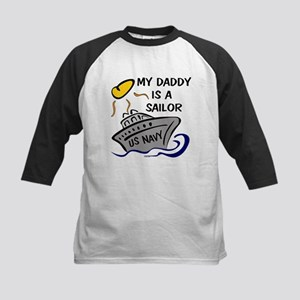 MY DADDY IS A SAILOR Kids Baseball Jersey