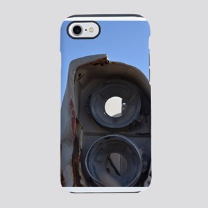 Old headlight of junked car iPhone 8/7 Tough Case