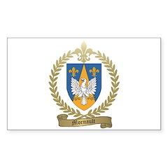 MORNAULT Family Crest Rectangle Sticker 50 pk)