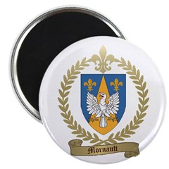 "MORNAULT Family Crest 2.25"" Magnet (100 pack)"