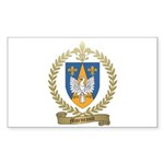MORNEAULT Family Crest Rectangle Sticker 50 pk)
