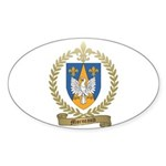 MORNEAULT Family Crest Oval Sticker (50 pk)