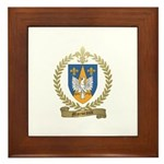 MORNEAULT Family Crest Framed Tile