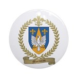 MORNEAU Family Crest Ornament (Round)