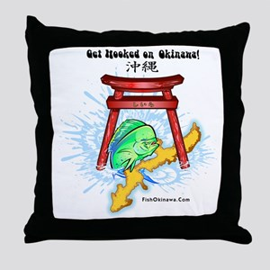 Get Hooked Mahi Throw Pillow