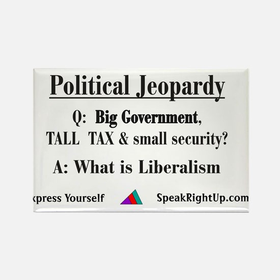 Political Jeopardy Rectangle Magnet