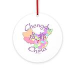 Chengdu, China Ornament (Round)