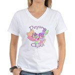 Deyang China Women's V-Neck T-Shirt