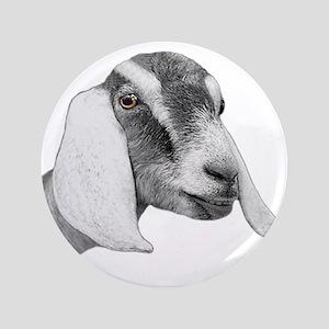 "Nubian Goat Sketch 3.5"" Button"
